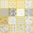 Yellow Grey Wallpaper | Feature Wall | Livingroom Bedroom | Mustard Silver | New