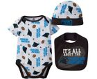 GERBER CAROLINA PANTHERS NFL Football Baby 3-Piece Set - Bib, Cap and Onesie NWT $11.99 USD on eBay