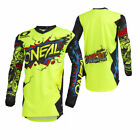 O'Neal Youth Neon Yellow Element Villain Dirt Bike Jersey MX ATV 2019