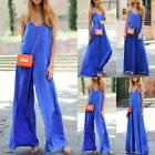 1 Pc Women Linen Sleeveless Loose Party Jumpsuit Playsuit Trouser