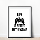 Gaming Boys Bedroom prints / Games Room Wall Art / Gamer Gifts / Gaming Poster <br/> ✅12 Designs ✅Mix & Match ✅Premium Quality Paper