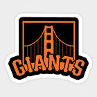 San Francisco Giants vinyl sticker for skateboard luggage laptop tumblers car c on Ebay