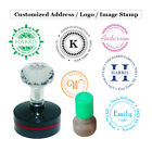 Внешний вид - Round Custom Self Inking Stamp - Personalized Signature Image Address Logo Stamp