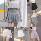 Women Girl Slim Thin High Waist With Safety Pants Pleated Tennis Mini Skirts
