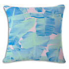 Watercolor Geometric Figure Cushion Cover Print Linen Affection Seat Home Decor