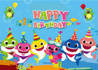 Baby shark birthday theme under the sea party banner background photography