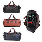 Kyпить New Men's Brown Vintage Genuine Leather Cowhide Overnight Luggage Duffle Gym Bag на еВаy.соm