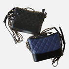 Gabrielle Hobo Gold Silver Chain Strap Quilted Calfskin Shoulder Cross-body Bag