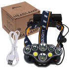 90000LM XM-L T6 LED USB Rechargeable Lampe Frontale Headlight Torche 8 Mode -FR