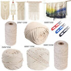 2-6mm Long Beige Cotton Twisted Cord Rope Beige Macrame Artisan String w/ Shears