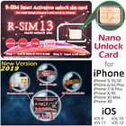 RSIM 13 R-SIM Nano Unlock Card for iPhone XS/XR/8/7/6/6S 4G LTE IOS 12 11 lot