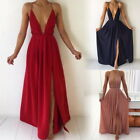 Ladies Sexy Chiffon Formal Evening Bridesmaid Dresses Party Ball Prom Gown Dress