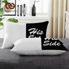 Black & White Body Pillow His & Her Side Bedding Neck Sleeping Down Pillow New  image