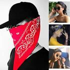 1PC Women Men Hip Hop Snowflake Flame Skull Print Headband Cool Scarf Square Mas