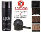 TOPPIK Set Hair Building Fibers 27.5g with SPRAY APPLICATOR Pump Black Brown NEW $17.99 USD on eBay