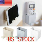 US STO Wall Mounted StorageCase Remote Control Phone Plug Holder Stand Container