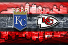 KANSAS CITY SPORTS Poster, Kansas City Chiefs Royals Print Free Shipping Us on eBay