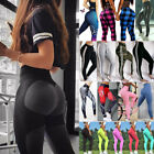 Women's Ruched Push Up Leggings Yoga Pants Anti Cellulite Sports Floral Trousers