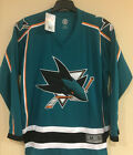 San Jose Sharks Men's Jersey - Embroidered Reebok Jersey NHL Licensed $59.99 USD on eBay