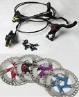 Hydraulic Disc Brakes Calipers Front Rear set DR-11FA Floating Rotors160/180/203