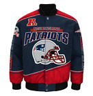 New England PATRIOTS Men's ENFORCER Cotton Twill Jacket by G-III - NFL Licensed