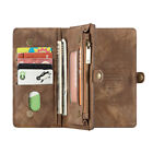 1pc Wallet Case Magnetic PU Leather Card Slots Hard Phone Cover for iPhone X/XS