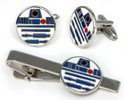 Star Wars R2D2 Cufflinks Tie Clip, Groomsmen Disney Wedding Groomsman Geeky Gift $17.95 USD on eBay