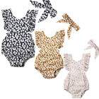 UK Newborn Baby Girls Romper Clothes Playsuit Babygrows Outfits Sunsuit 0-24M