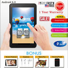 10.1'' 9  7  Inch Tablet PC Android Quad Core 16GB/8GB HD WIFI Dual Camera WiFi