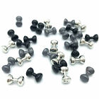 LEAD DUMBBELL EYES - Hareline Fly Tying Jig Fishing Heavy Barbell Beads 8 Sizes!