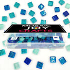 Kyпить  320 Pcs Mixed Color Square Glitter Glass Mosaic Tiles for DIY Craft blue green  на еВаy.соm