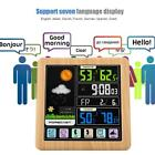 LCD Touch Screen Clock Wireless Weather Station Temperature Humidity Detection