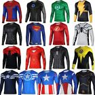 Men's Causal Compression Long Sleeve Fitness Sports T-shirt Shirt Muscle Tops image