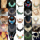 New Pendant Chain Crystal Choker Chunky Statement Bib Necklace Fashion Jewelry
