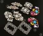 2x Flower Square Crystal Rhinestone Shoe Clips Buckle Wedding Bridal Party Decor