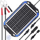 SUNER POWER 12V Solar Car Battery Charger & Maintainer - Portable 8W Panel Trick