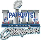 New England Patriots 2019 Super Bowl Champions 53 Decal / Sticker $2.99 USD on eBay