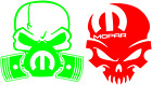 Mopar Skull Decal ( two designs and sizes) $3.5 USD on eBay