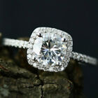 925 Silver Round Clear Cubic Zircon Girl Wedding Engagement Jewelry Ring Gift
