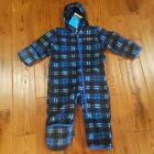 Внешний вид - NWT Boys Fireside Cuddle Columbia Snowtop Fleece Bunting Snow Suit Blue checkard