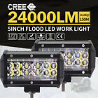 2x 5 Inch Cree Led Work Driving Light Bar Flood Beam Offroad Boat Truck 12v 24v