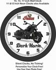 2019 INDIAN DARK HORSE MOTORCYCLE WALL CLOCK-HARLEY, HONDA, TRIUMPH $28.99 USD on eBay