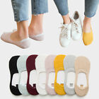 5 Pairs Women's Invisible No Show Nonslip Loafer Boat Ankle Low Cut Cotton Socks