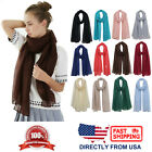 Women's Natural Dye Solid Color Long Shawl Lightweight Wrap Fashion Scarf