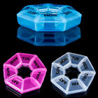 7 Day Pill Box Weekly Round Medicine Tablet Case Container Storage Holder Hot