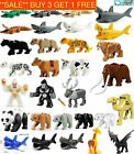 Animal Minifigures Tiger Lion Shark Cow Bull Leopard Panther Alligator Fits Lego