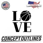 Love Basketball Decal Sticker For Car Phone Wall Indoor Outdoor Free Shipping