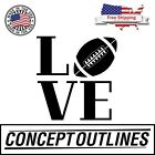 Love Football Decal Sticker For Car Phone Wall Indoor Outdoor Free Shipping