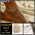 Simple Figaro Chain Bracelet Anklet Gold Silver Anklet Jewllery Foot Beach image