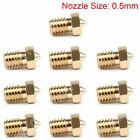 0.2-0.3-0.4-0.5mm J-head Nozzle Accessories M6 Threaded For 3D Printer 1.75mm U
